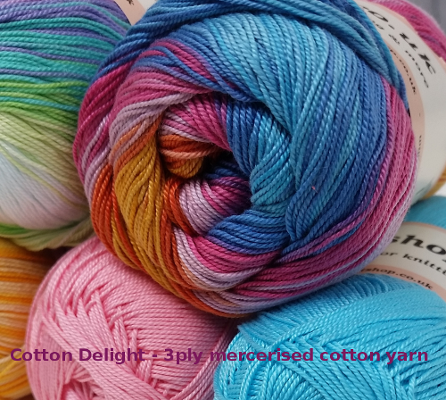 Cotton Delight 3ply Yarns