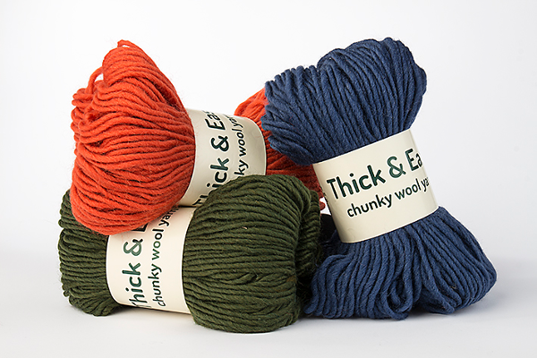 Thick & Easy Wool Yarn Juniper, Fire and Denim